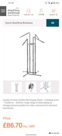 4 arm multi position retail hanging rails