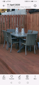 Garden table and 6 chairs