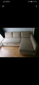 Ikea Friheten sofa bed L shape with storage