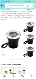 Outdoor Patio Ground Lights 4 Pack