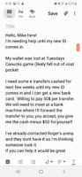 Wallet lost at canucks game!  Need help over next few weeks