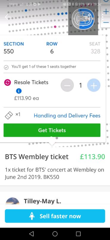 Bts Wembley D2 Ticket In Portsmouth Hampshire Gumtree