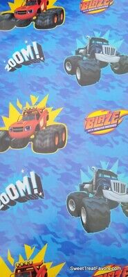 Monster Wrapping Paper (Blaze Monster Machines Wrapping Paper Gift Book Cover Party Wrap Birthday 2)