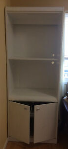 White Palliser Furniture Shelving Unit