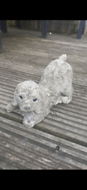 Small Playing Dog Garden Ornament