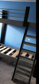 Extra solid bunk bed frame great condition