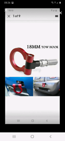 Tow hook Ring (RED) 18mm