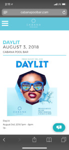 Day Lit Cabana Pool Party