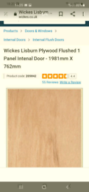 BRAND NEW WICKES INTERNAL DOOR, DETAILS IN PHOTOS, REAL BARGAIN!