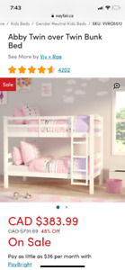 Abby Twin bunk bed