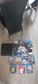 PS4 SLIM 1TB WITH GAMES & CONTROLLER