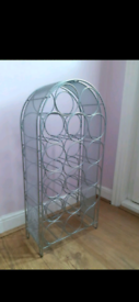 Large Metal Wine Rack With Mesh Sides