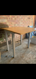 Grey dinner table