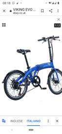 E bike folding