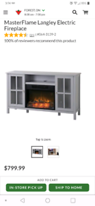 Fireplace tv stand or cabinet already built.