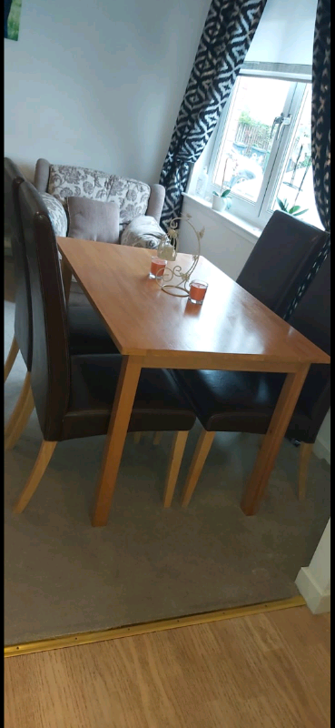 Dining Table With 4 Chairs In Blantyre Glasgow Gumtree