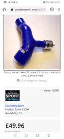 Astra h vxr dump valve silicone pipe in BLACK