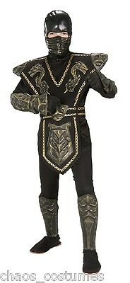 Boys Kids Warrior Ninja Samurai Mortal Kombat Scorpion Childs Halloween Costume - Mortal Kombat Child Costumes