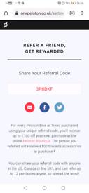 Peloton referral code - £100 discount