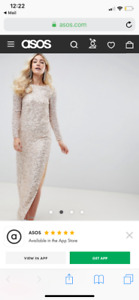 ASOS Pink Sequin Gown (Size 10)