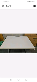 Steelcase White Office/school Desk 100x80cm. Used excellent condition