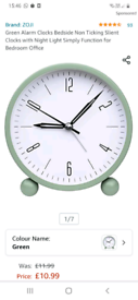 ZOJI ALARM CLOCK £5