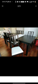 Set of table and chairs ikea