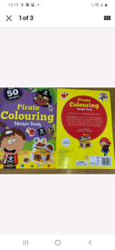 Pirate Colouring Books with Stickers