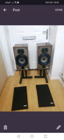 B&w speakers 110i with stands