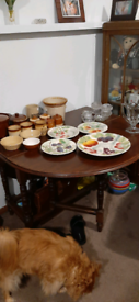 Assortment of pottery and glass