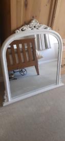 Large Ornate Domed Vintage Style Mirror