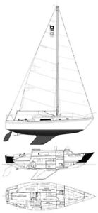 FULL RIG FROM PEARSON 30- MAST/ BOOM/ STAYS/ CHAINPLATES