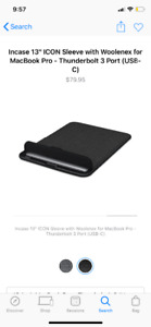 """New Incase ICON Sleeve for 13"""" MacBook Pro (USB-C)"""
