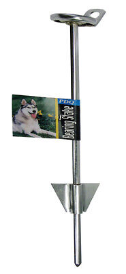Boss Pet  PDQ  Silver  Tie-Out Stake  Metal  Dog  Tie Out Stake  Large Dog Tie Out Stake