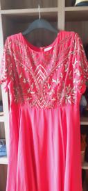 Pink embellished size 18 dress
