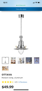 Two ikea pendant lights for sale.  Barely used!