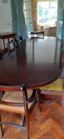 Dining table and 11 chairs