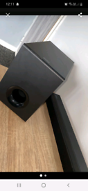 Sony soundbar and Bassbox