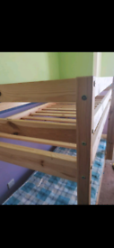 Pine wood bunk bed frame in great condition