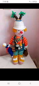 Vintage Hand Knitted Travel Clown