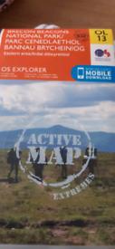 OS OL13 explorer active map brecon beacons
