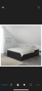 IKEA BRIMNES Bed - Double - Black
