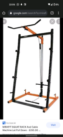 Mirafit squat rack with latt pull and cable pulley