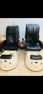 Nail Salon Pedicure Spa Chairs... Brand new leather seat covers!