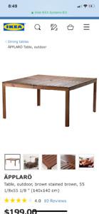Patio table IKEA äpplarö