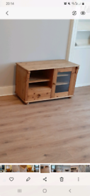 Used pine tv stand