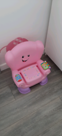 Kids abc 123 chair pink
