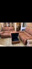 Harveys sofas 2+2+storage footstool
