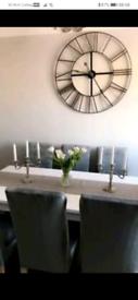 Large white entending dining table