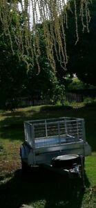 Near new 7x5 gal caged box trailer